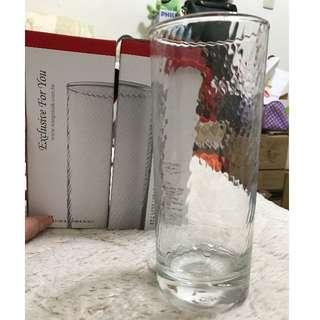 自取免費送 晶瑩剔透 質感 玻璃杯/透明水杯 2入