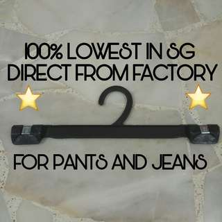 [IN-STOCK] Clip Plastic Hanger For Pants and Jeans