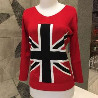 Red Sweater England Flag