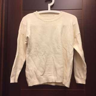🚚 米白色柔軟針織毛衣