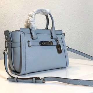 Coach Pebbled Leather Swagger 27 Satchel