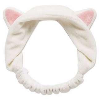 Bando Headband Cat Ears - White