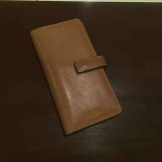 Coach leather long card holder
