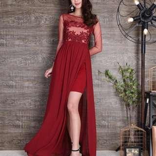 Brand New Dark Red Maxi Dress