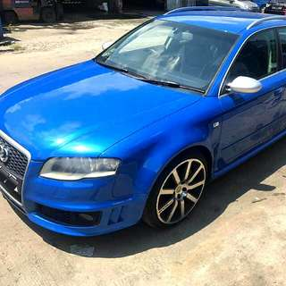 Audi RS4 (hatchback) 4.2L B7 V8 Engine 6 Speed Manual Transmission  Super Car 2007/08 Status : 🇸🇬( SPORE )  Excellent Condition  For Spare Parts Or Track Use.   Interested Pls Click 👇 ( CLICK )