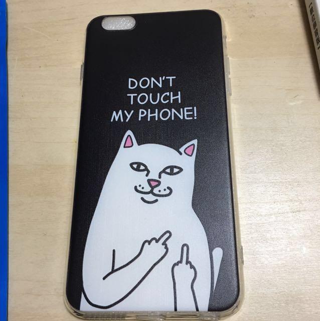 6S中指貓手機殼