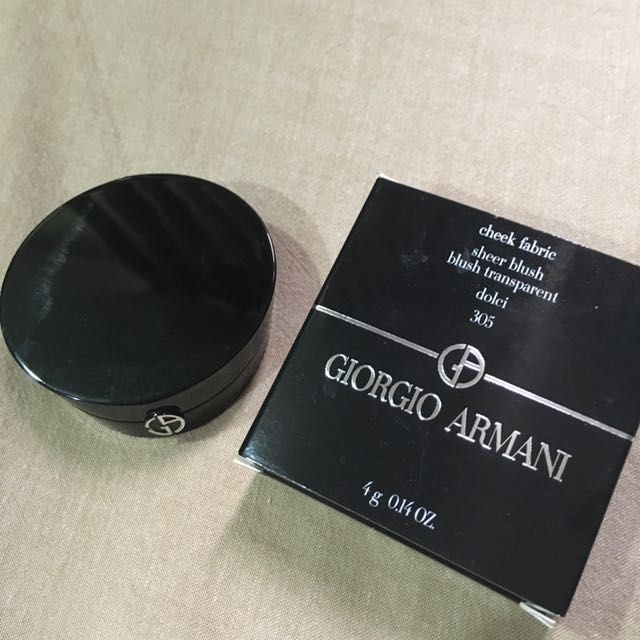 9成新 Giorgio Armani cheek fabric 奢華漂染腮紅盒 305