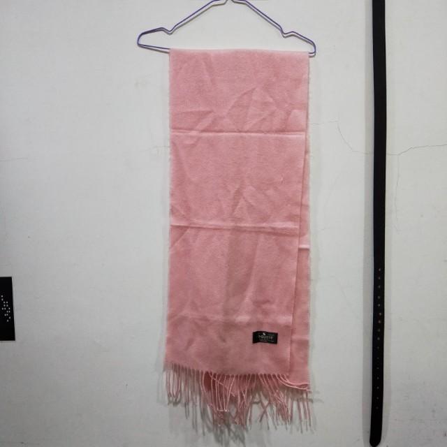 粉色可愛風氣質風保暖圍巾