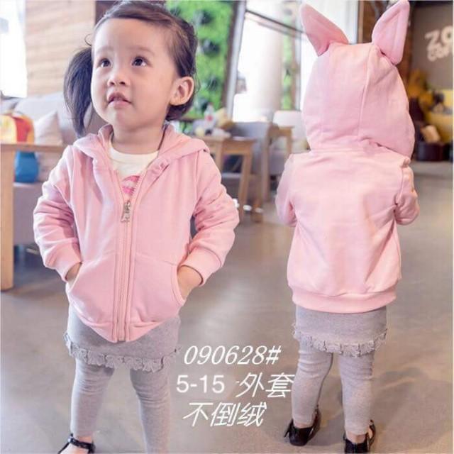 兔兔帽棉外套