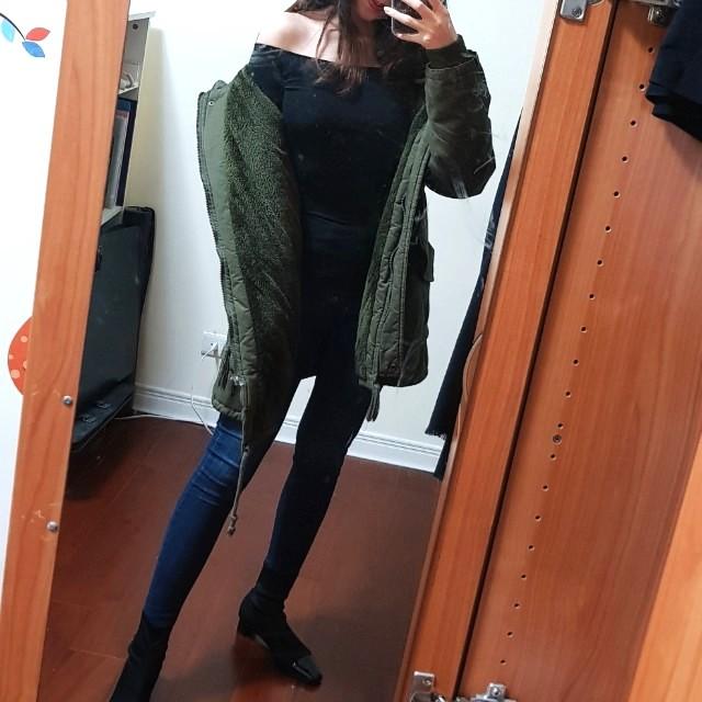 超保暖超美軍綠大衣