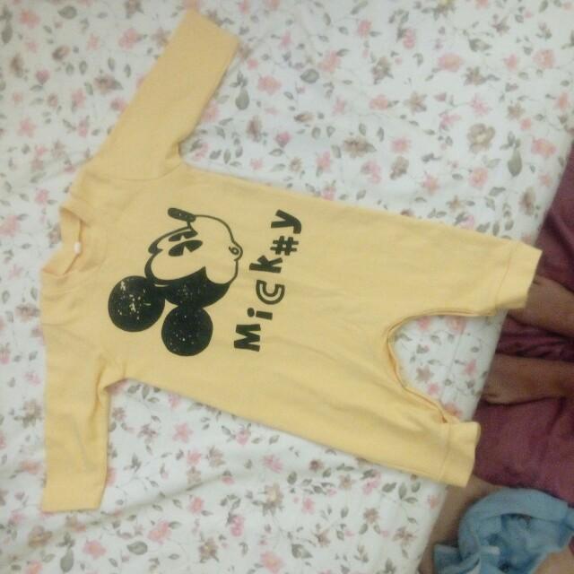購物贈品😋米奇寶寶連身衣