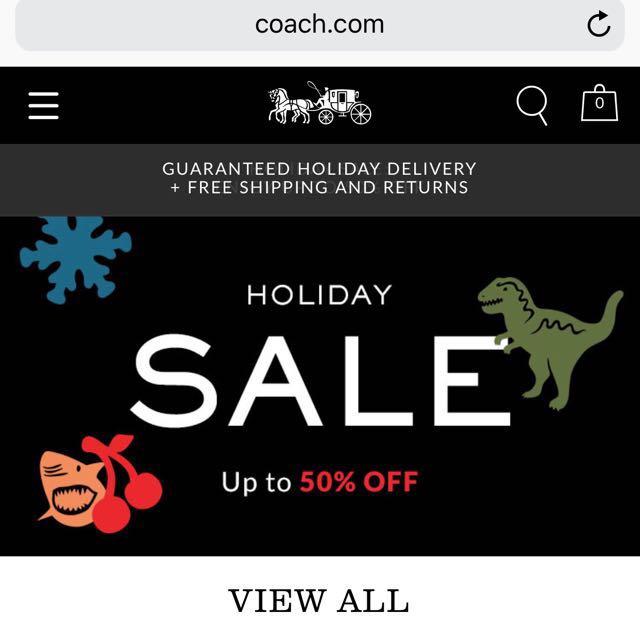美國代購 🇺🇸 Coach 聖誕年終 50% off 折扣促銷