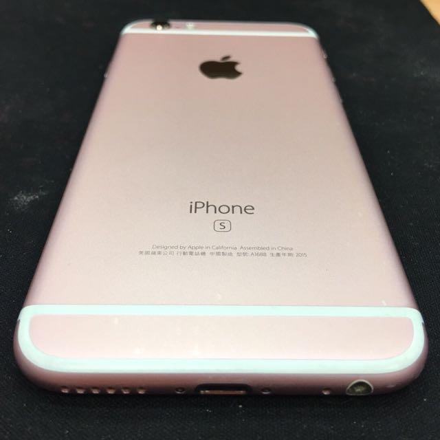 二手 iPhone 6s 64G 4.7 玫瑰金 功能正常  外觀有小擦傷 不介意者再行購買 粉 3C Apple