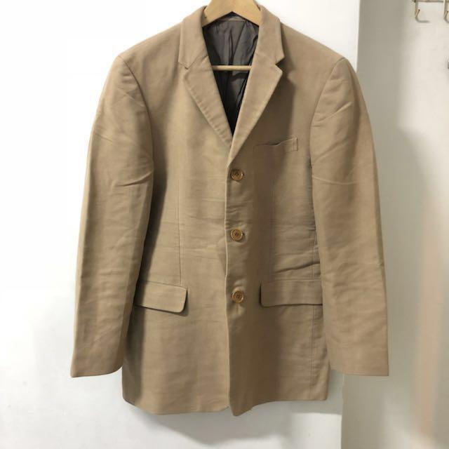 日本製 Kenzo 駝色西裝外套 古著二手工裝紳士