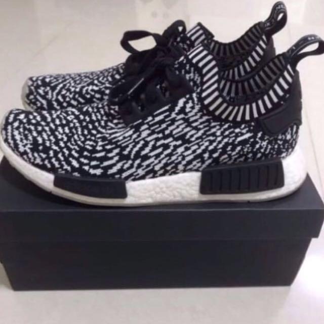 08e4292afdedc Adidas NMD R1 Primeknit Zebra Sashiko Shoes