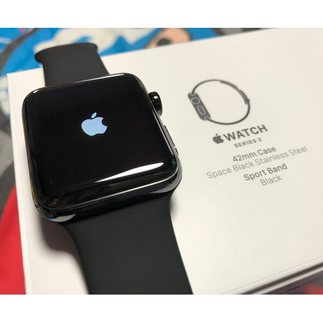 Apple Watch Series 2 42mm Space Black Stainless Steel Mp4a2zp A