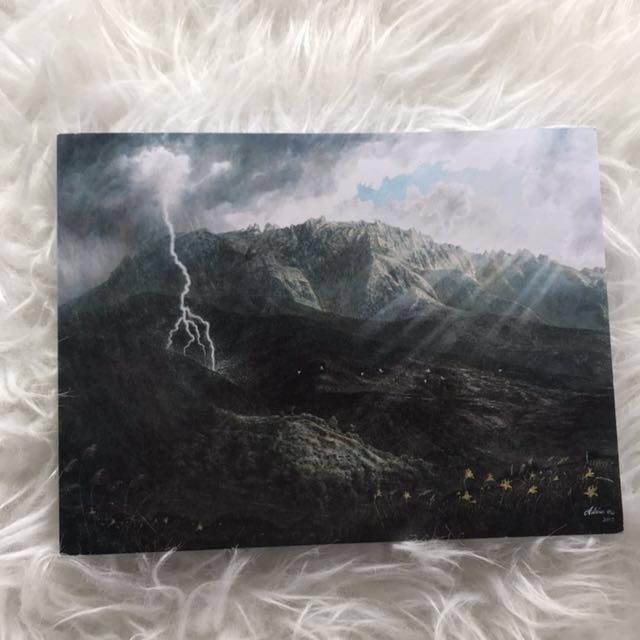 Artsy scenery high quality notebook