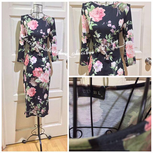 🌸ASOS Club L Floral Midi Dress
