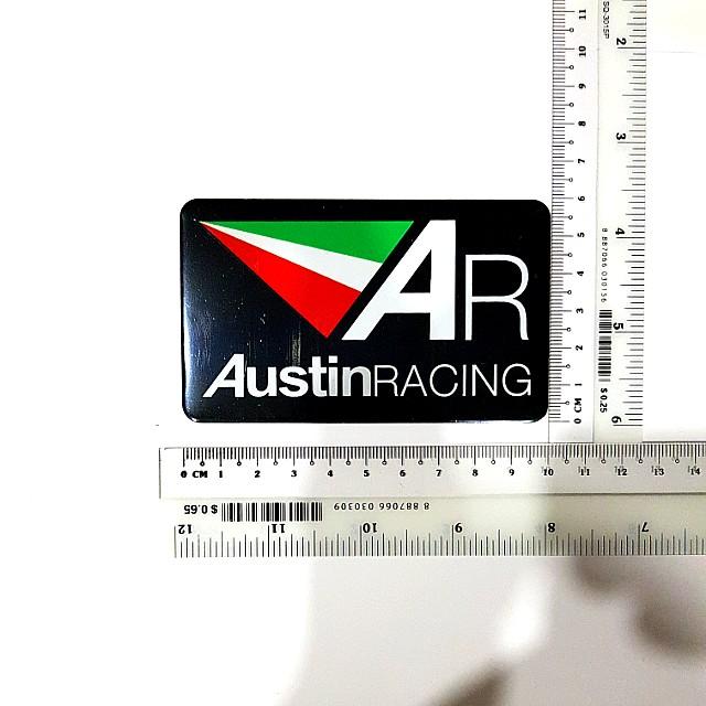 Austin Racing metallic exhaust decal/sticker