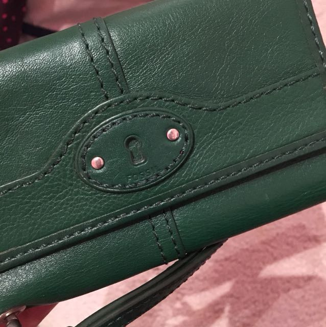 Authentic Fossil - Hunter Green iPhone 5 Wristlet