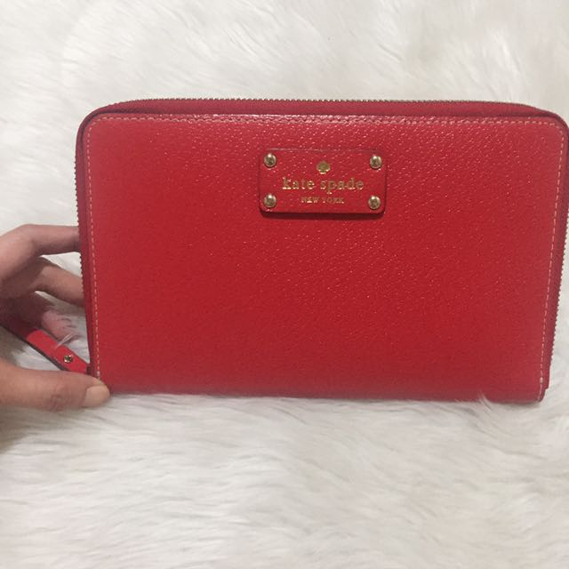 Authentic Kate Spade Zip Travel Wallet