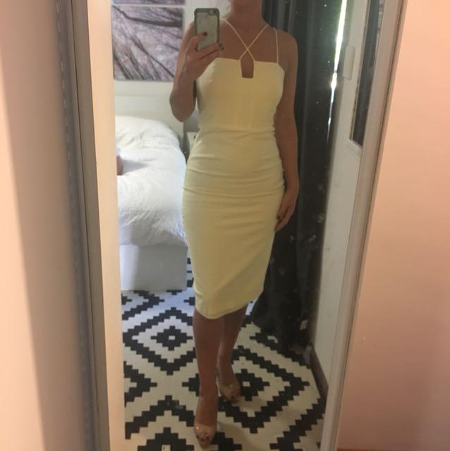 Bardot Baby yellow dress