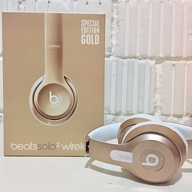 Beats Solo 2 Wireless Headphones (Special Edition Gold)