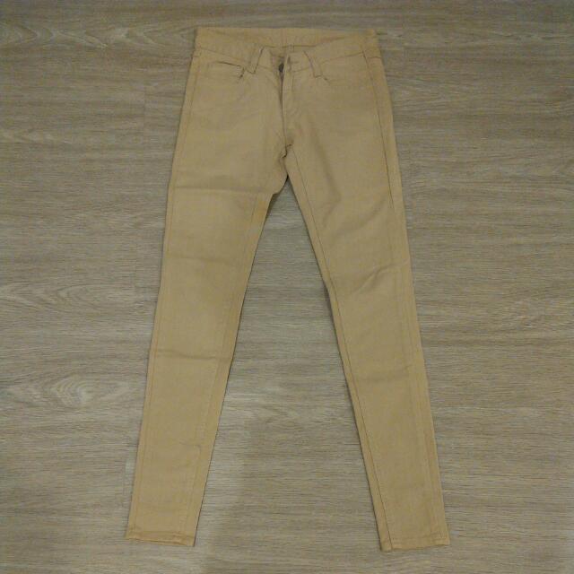 Beige Skinny Jeans Korea Sz 25