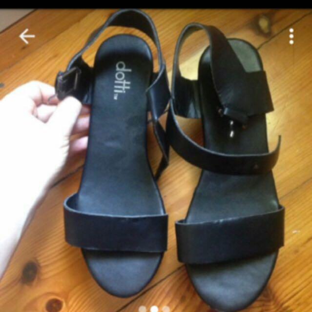 Black Dotti Heeled Sandals