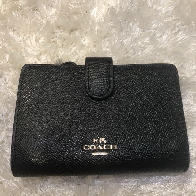 BRAND NEW Coach Crossgrain Leather Medium Corner Zip Wallet