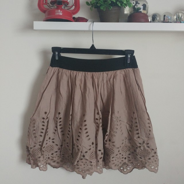 Brown lace skirt