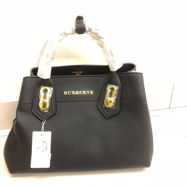 BURBERRY INSPIRED Leather Bag