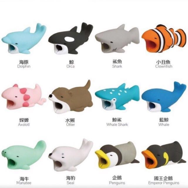 日本代購🇯🇵Cable Bite 療癒系吃吃手機 動物充電線保護套