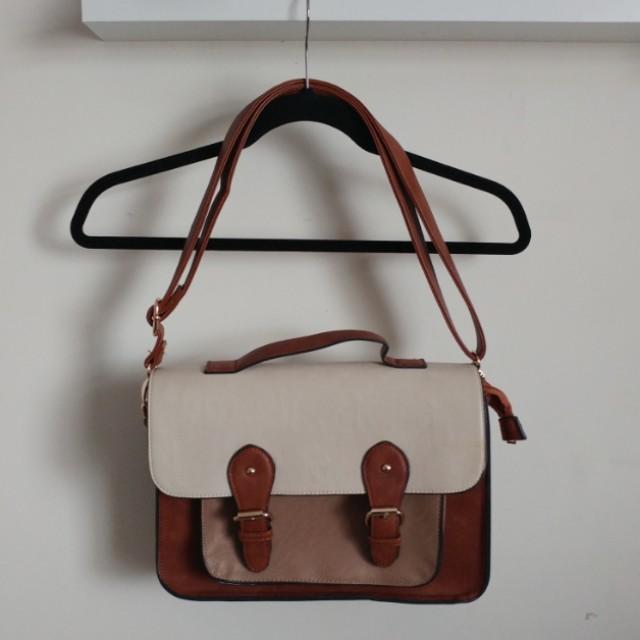 Call it Spring brown satchel