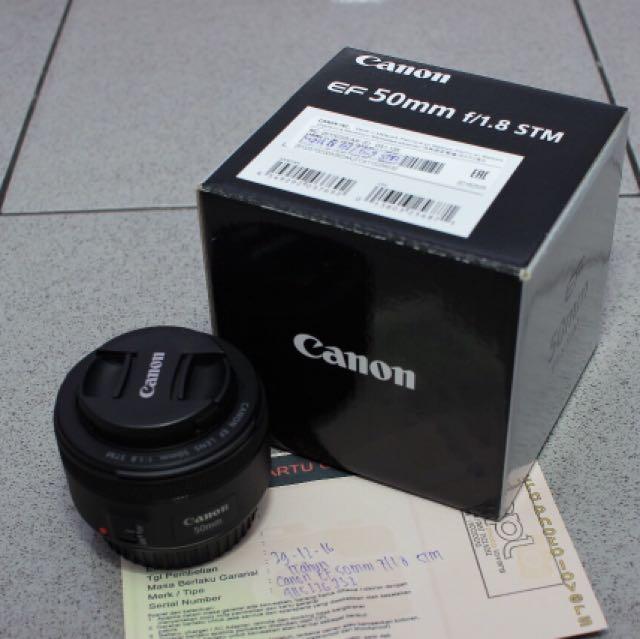 Canon Lensa Fix 50mm f/1,8 STM