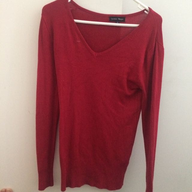 CAROLINE MORGAN red long sleeve