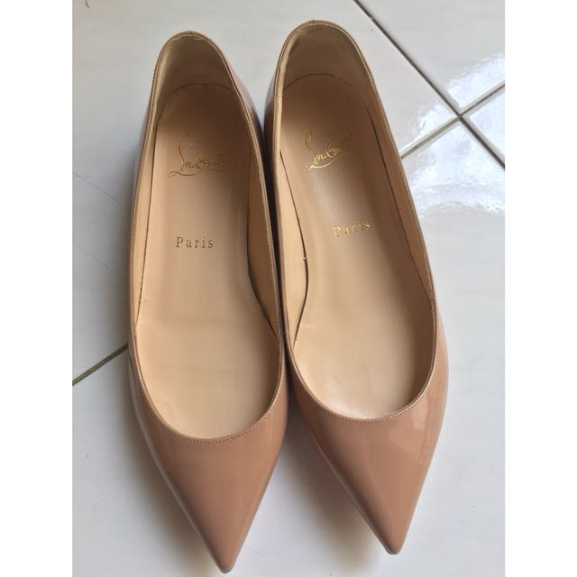 7cce02c5276 Christian Louboutin Pigalle Follies Flat Patent in nude Sz 36 ...