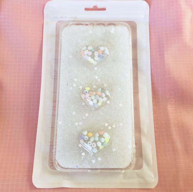Clear 3D hearts iPhone 6/S PLUS phone case