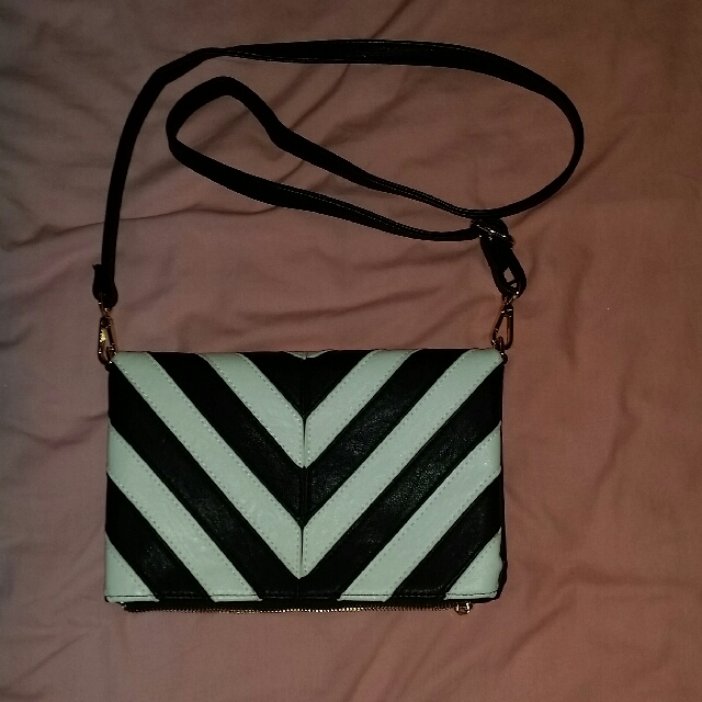 Colette black & white bag