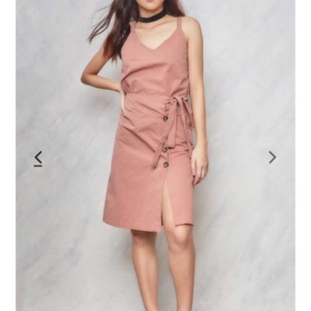 Copper Stolen Moments Top and Skirt Set in Dusty Pink