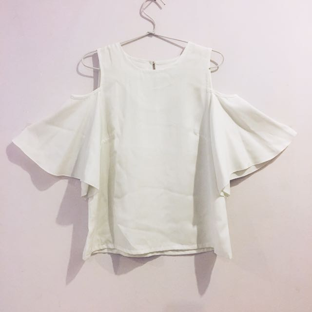 Cottonink - White Cold Shoulder Top