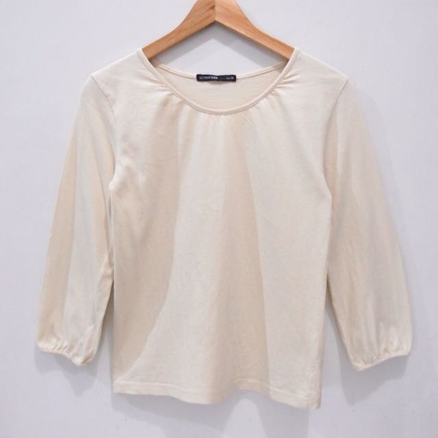 cream cotton long sleeves