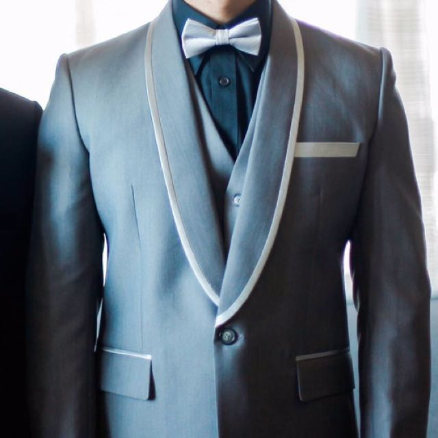 Designer groom suits, Men\'s Fashion, Clothes on Carousell