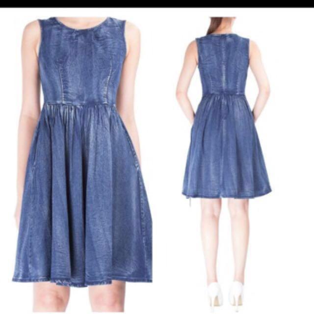 📮Doublewoot Blue Denim Dress