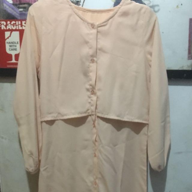 Dress Salem Panjang