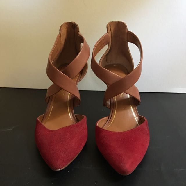 Enzo Angiolini Brown and Red Shoes 👠
