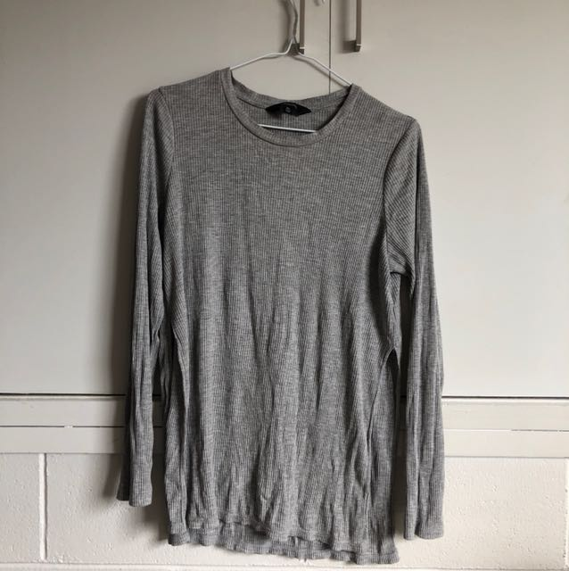 Glassons Fitted Ribbed Long-Sleeve