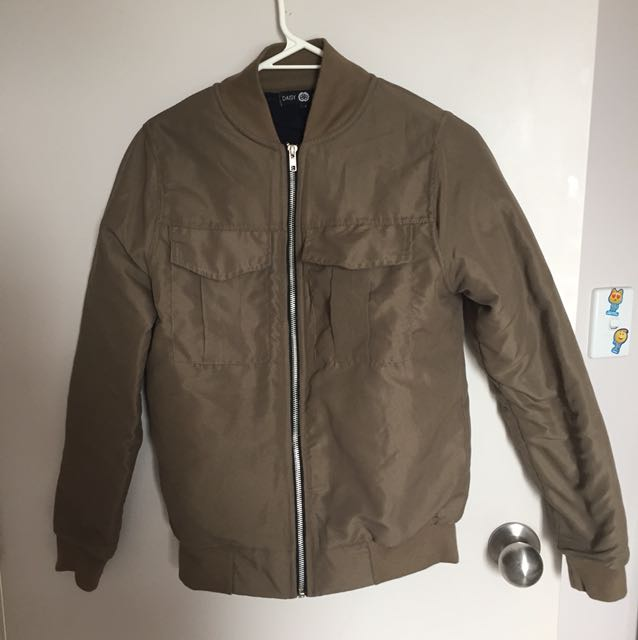 Green army style bomber jacket