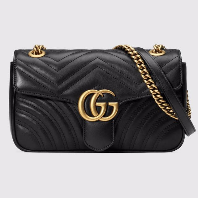Gucci GG Marmont 經典鏈條 斜背包 肩背包 443497 446744
