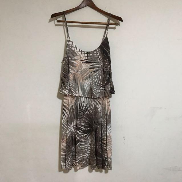 H&M 細肩帶 度假風 印花 波西米亞 洋裝 歐美 S號 寬鬆 含運 全新